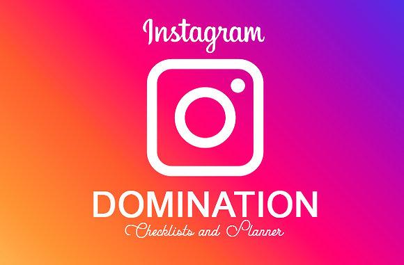 Instagram Domination Checklists and Planner