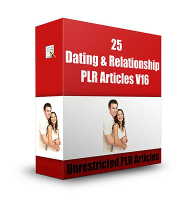 25 Dating and Relationships PLR Articles V16
