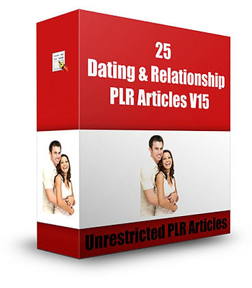 25 Dating and Relationships PLR Articles V15