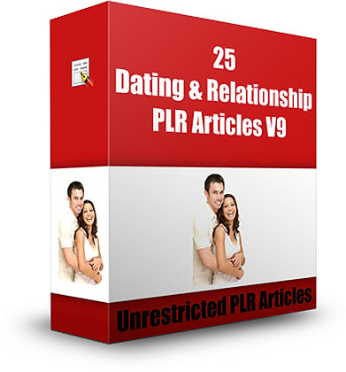 25 Dating and Relationship PLR Articles V9