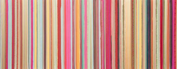 Lineas I, Fuccias y Celestes, 2012, 80x2