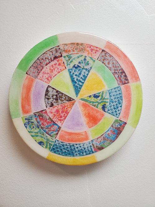 "Shelly Pinto: ""Pinwheel #3 (8 in circle)"""