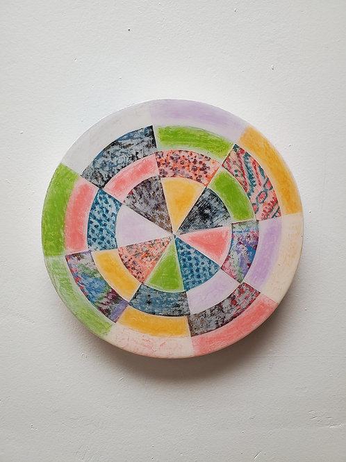 "Shelly Pinto: ""Pinwheel #2 (8 in circle)"""
