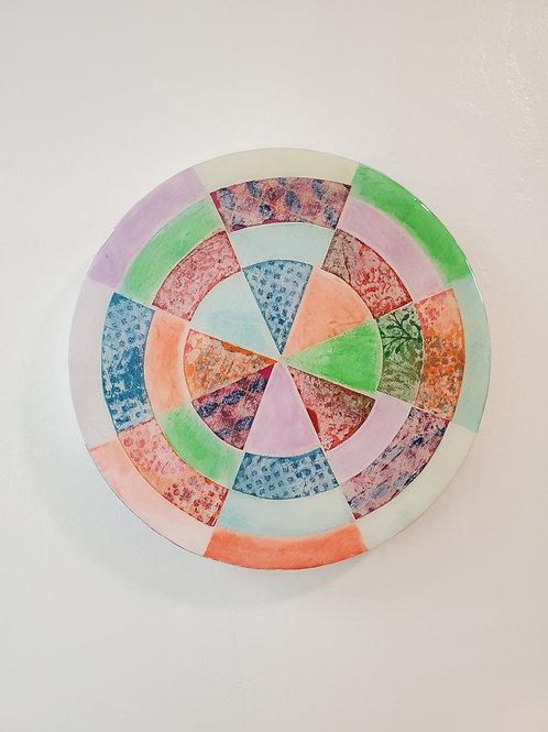 "Shelly Pinto: ""Pinwheel #1 (8 in circle)"""