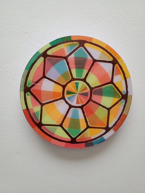 """Shelly Pinto: """"Kaleidoscope #1 (8 in circle)"""""""