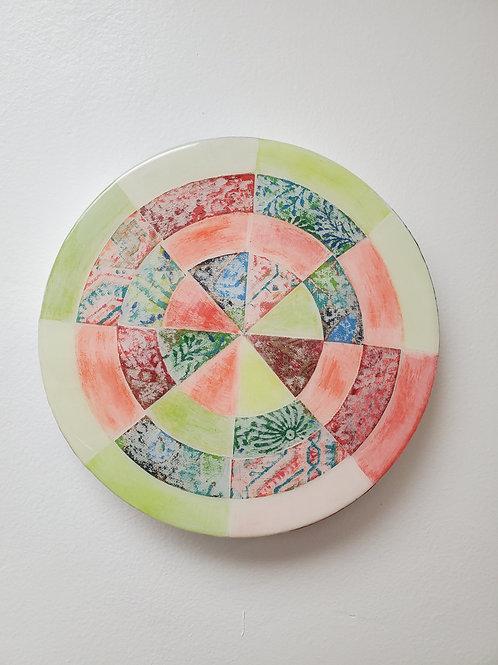 "Shelly Pinto: ""Pinwheel #10 (8 in circle)"""