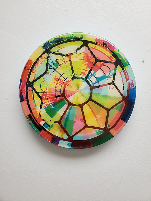 """Shelly Pinto: """"Kaleidoscope #6 (8 in circle)"""""""
