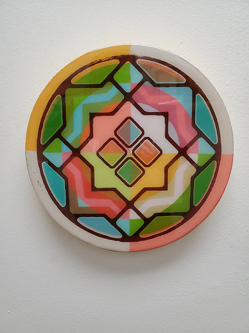 """Shelly Pinto: """"Kaleidoscope #2 (8 in circle)"""""""