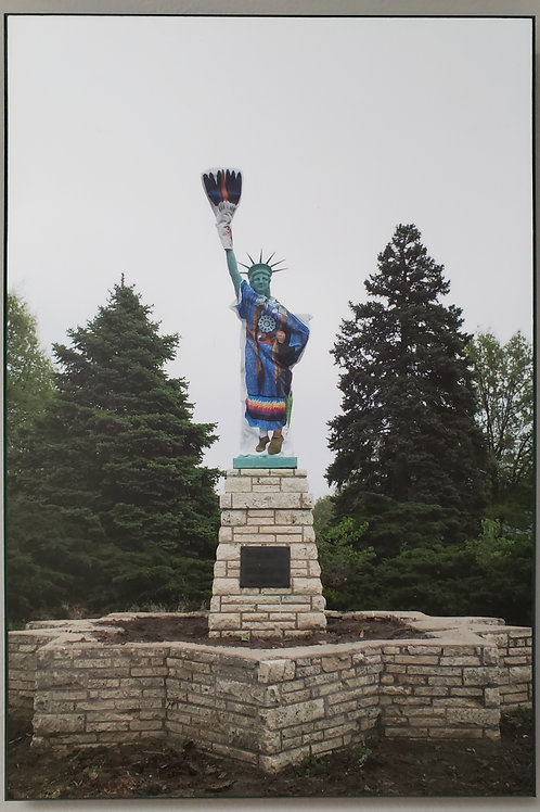 """Sydney Pursel: """"Statue of Liberty (Seminole) -Myer blvd and Prospect Ave"""""""