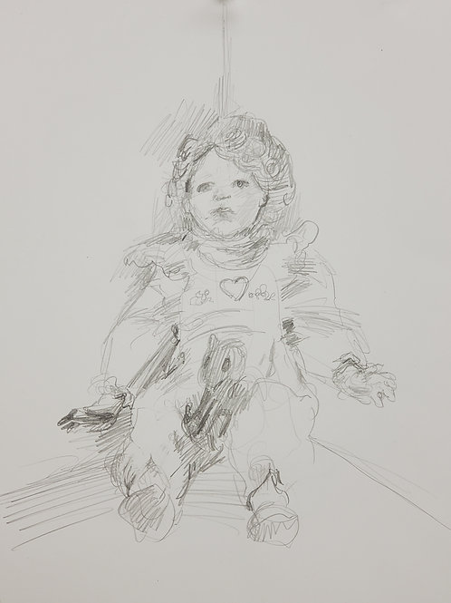 """""""Portrait of the Doll We Found in the Closet (Drawn at the Sallie House)"""""""