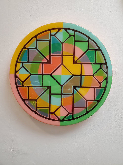 """Shelly Pinto: """"Kaleidoscope #12 (10 in circle)"""""""