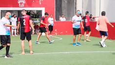 Participan ex jugadores del Atlas en torneo de fútbol sin ver
