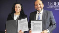 Unirán esfuerzos CEDHJ  y la Asociación Alma de Mujer y Vida