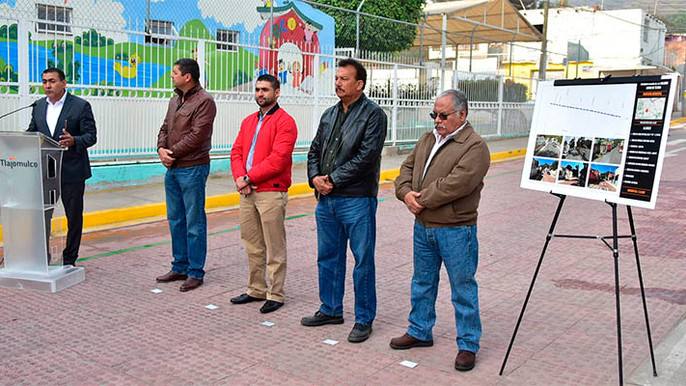 Inauguran primera obra iniciada por Zamora