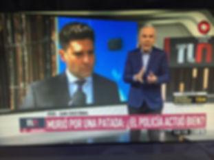 Nota en Television canal nueve al abogao Ignacio trimarco