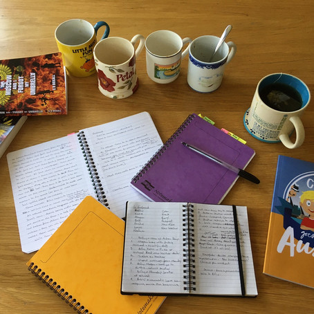 Four Filled-up Notebooks
