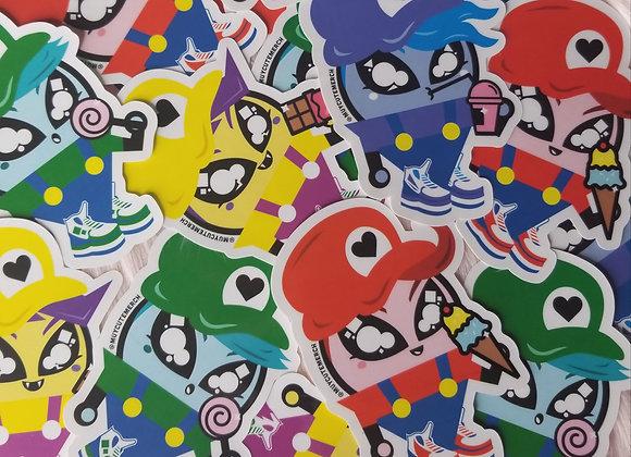 Muy Cute Monito Sticker 4-Pack