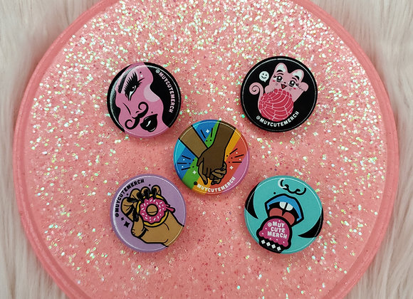 Muy Cute Button 5-Pack