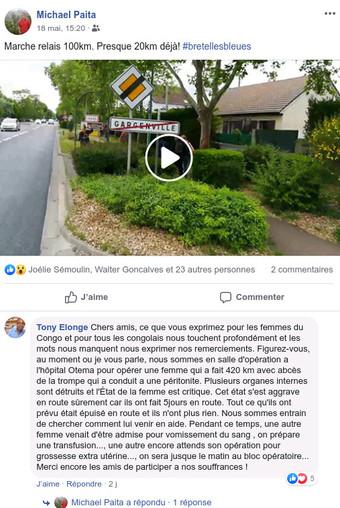 100 km non-stop dans les Yvelines / 400 km au Congo