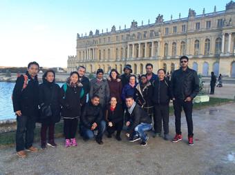 Le chantier à Versailles-château