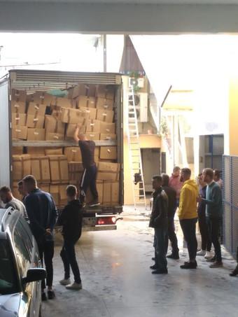 Le matériel est bien arrivé à Tirana
