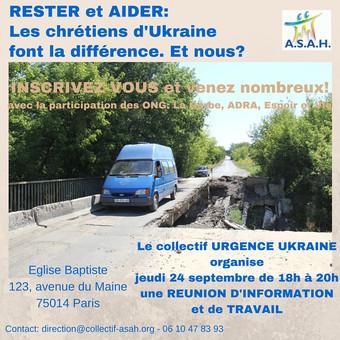 Urgence Ukraine : Rester & Aider