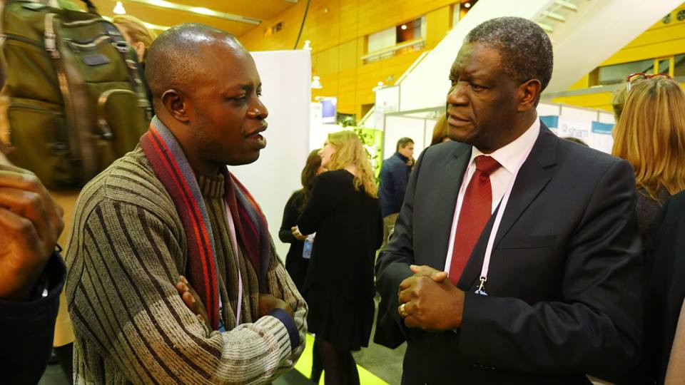 Dr Elonge avec le Dr Mukwege, 2015