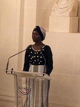 Hadaj Idrissa Bah au Palais du Luxembourg