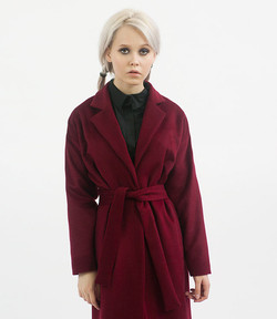 Burgundy robe overcoat