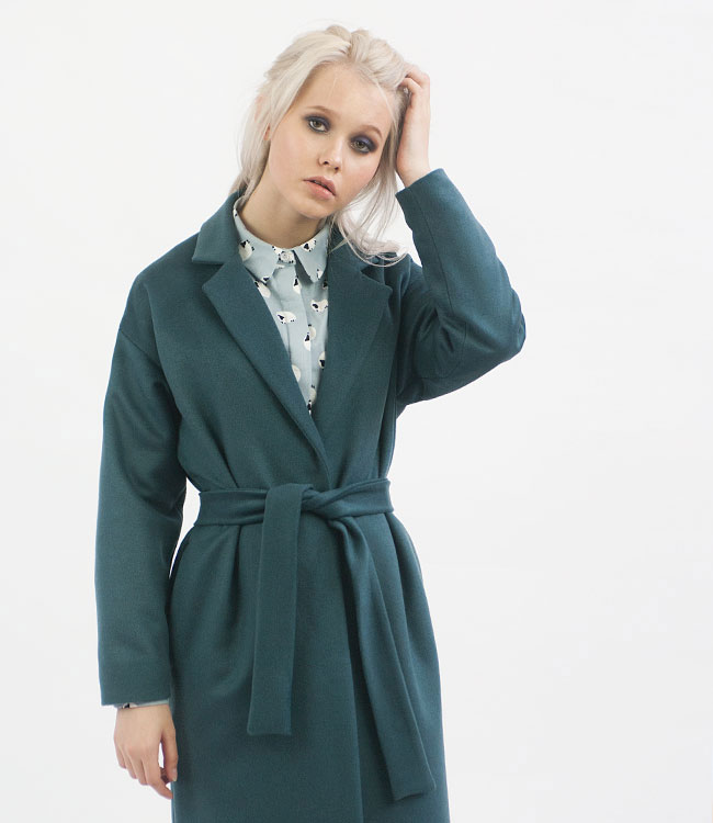 Malachite robe overcoat