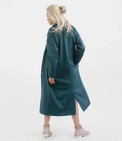 Malachite robe overcoat