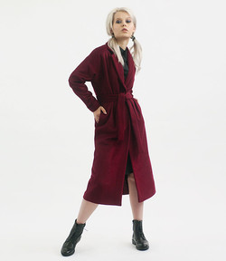 Burgundy robe overcoat