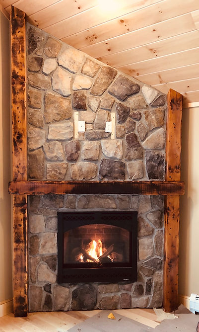Fireplace Interior Bartlett New Hampshire Contractor Homes