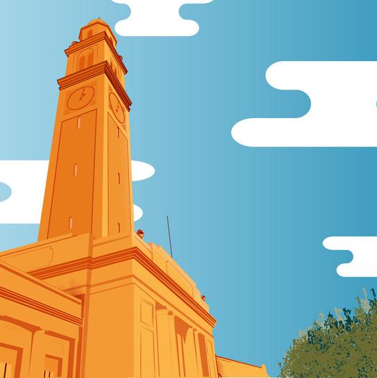 LSU Building Illustration