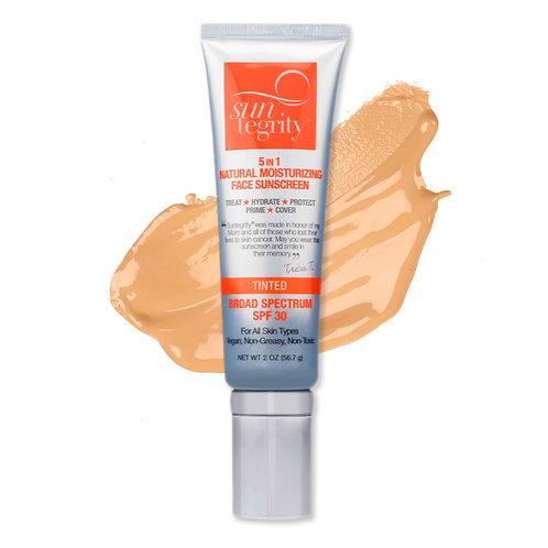 Suntegrity 5 in 1 Natural Tinted Face Sunscreen SPF 30 - Medium -1.7 oz