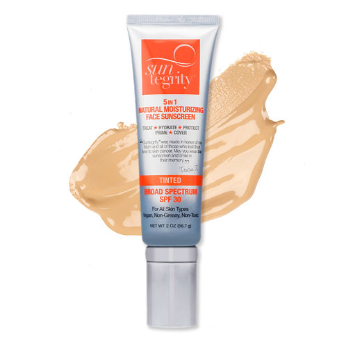 Suntegrity 5 in 1 Natural Tinted Face Sunscreen SPF 30 - Light - 1.7 oz