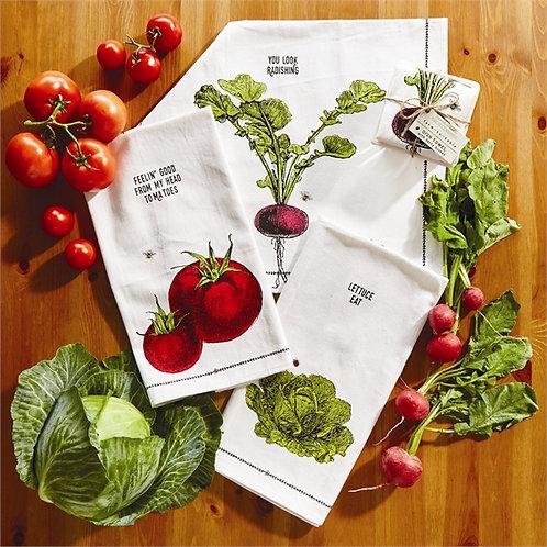 Lettuce Vegetable Tea Towel