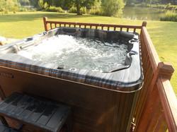 Log Cabin with Hot Tub Lodge