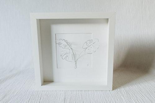 monstera leaf 3 - wire art