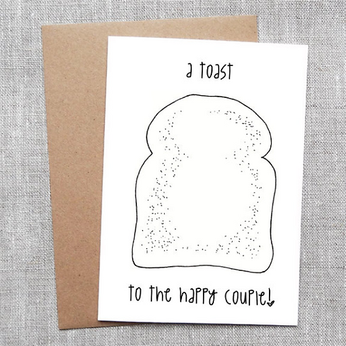 a toast to the happy couple - Card