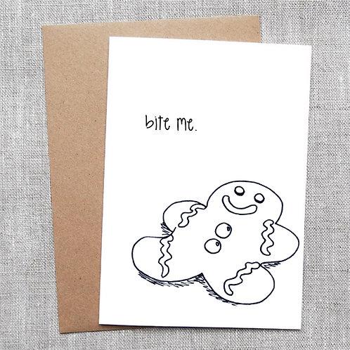 bite me - Holiday / Christmas Card
