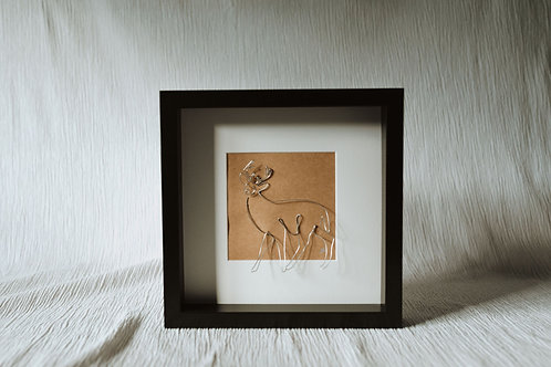 stag - wire art