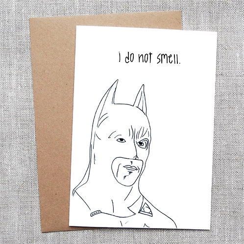i do not smell (Batman) - Holiday / Christmas Card