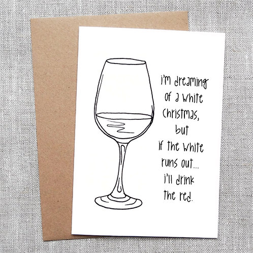 i'm dreaming of a white christmas - Holiday / Christmas Card