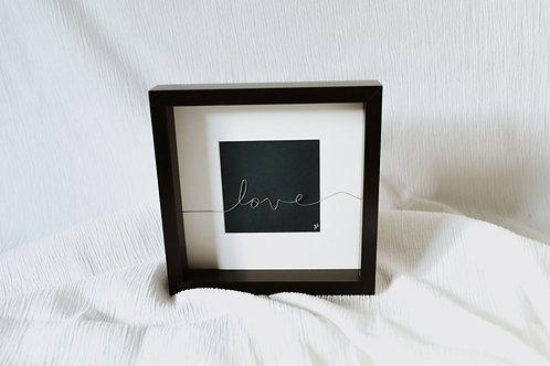 """""""love"""" - wire art"""