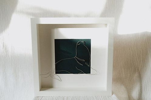 sea lion - wire art