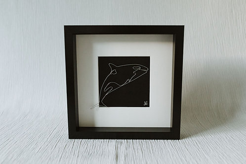 orca - wire art