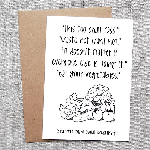eat your vegetables - Card