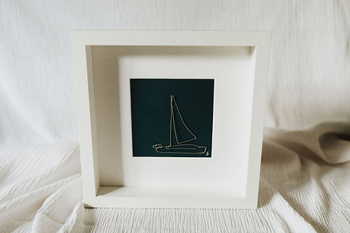 sailboat 1 - wire art