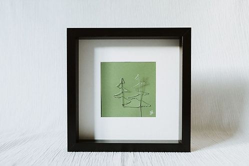 trees - wire art
